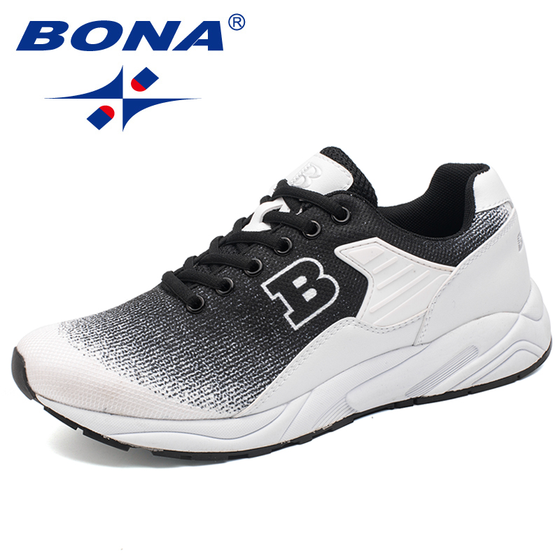 BONA New Classics Style Men Running Shoes Lace Up Sneakers Outdoor Walking Jogging Shoes Light Athletic Shoes Men Free Shipping недорого