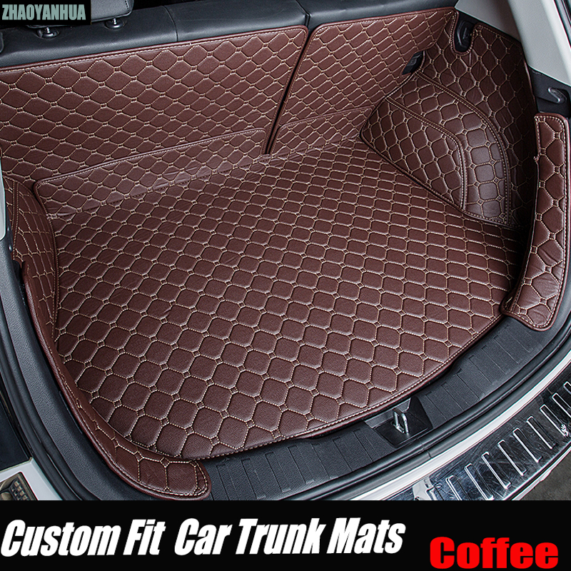 ZHAOYANHUA Car trunk mats special for Audi A4 B5 B6 B7 B8 allraod Avant A3 A6 C6 C7 A7 A8 Q3 Q5 Q7 5D car styling carpet rugs yawlooc 3d metal black s3 s4 s5 s6 s8 sline car tail sticker emblem badge logo car styling for audi q3 q5 q7 b5 b6 b8 c5 c6