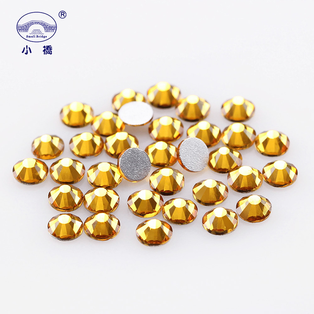 Non Hotfix Flatback Rhinestones For Nails Round Glass Rhinestones Shapes 3d Crystal Rhinestones Decoration Accessories X015 in Rhinestones Decorations from Beauty Health