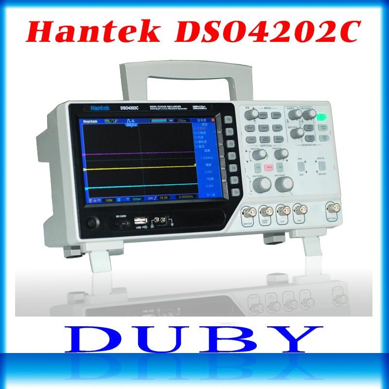 DSO4202C Hantek 2 Channel Oscilloscopio Digitale 1 Canali Arbitrarie/Funzione Generatore di Forme D'onda