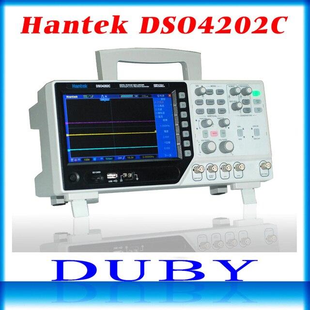Hantek DSO4202C 2 канальный цифровой осциллограф, 1 канальный произвольный/функциональный генератор сигналов