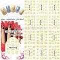 2015 NUEVO 90 Unids/lote HBJY073-084 Oro 3D Ratón de dibujos animados oso pato Sugerencia Nail Art Sticker Uñas Calcomanía de uñas de Manicura herramientas