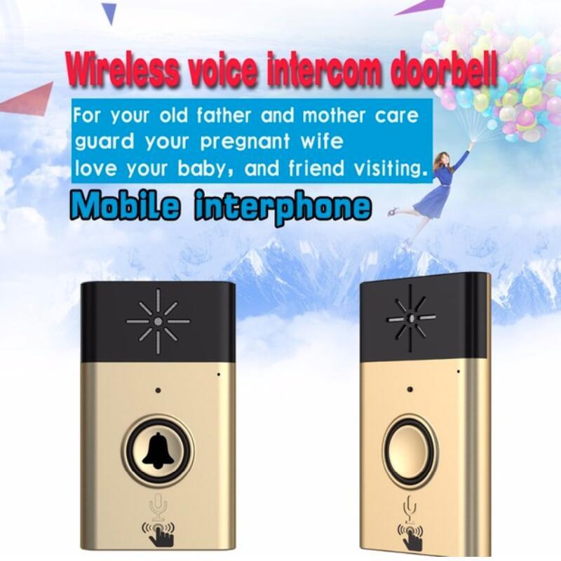 (1 Kit) Gold Farbe H6 Drahtlose Voice Intercom Türklingel 1 Zu 1 Besucher Aufruf System Für Haus Audio Tür Telefon In Tür Glocke Hell In Farbe
