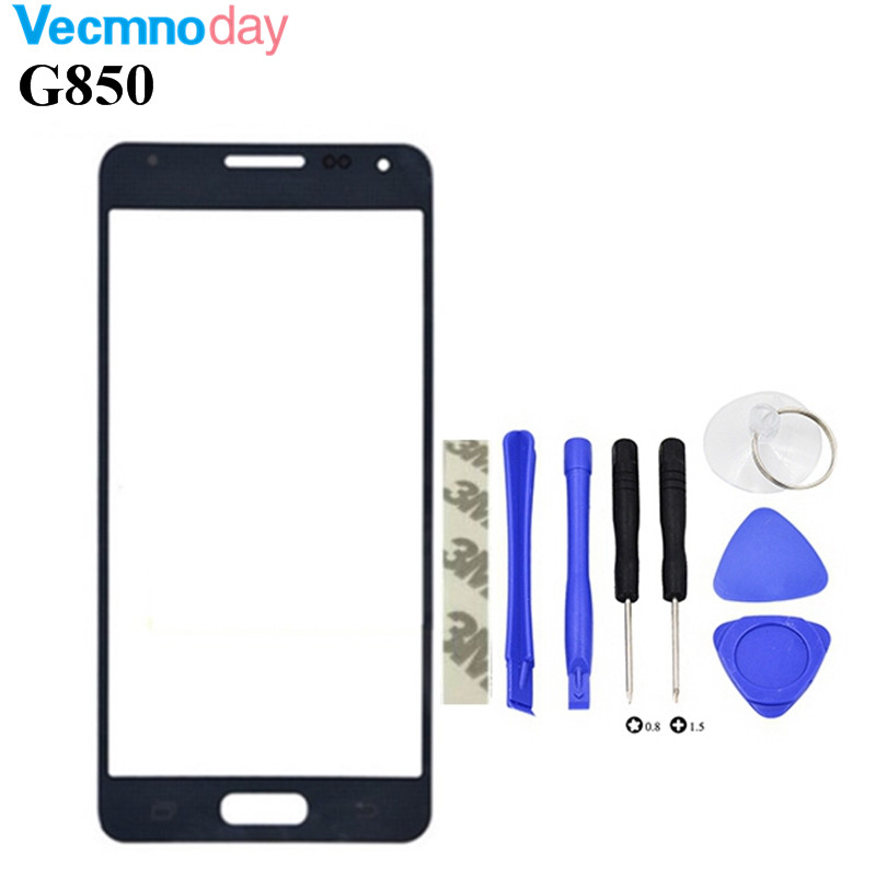 Vecmnoday 4.7 Touch Screen Glass Replacement For Samsung Galaxy G850F G850 LCD Front Outer Glass Cover Lens With Logo