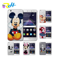 Para funda Huawei honor 6A 6X9 caso Mickey Minnie casos tampa do telefone para Huawei Y5 II 2018 para y5 2017 Y6II Y6 Pro Y7 Coque Estojo(China)