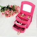 High quality -Fashion Imitation Rabbit Hair Jewelry Box For Cute Girls Jewelry Carrying Case Wholesale and retail B008