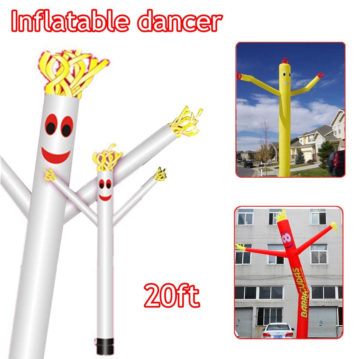 20ft/6 m Vent Danseur Tube Dessin Animé Homme De Danse Gonflable Marionnette D'air De Ciel D'air Homme Dansant Pour publicité - 4