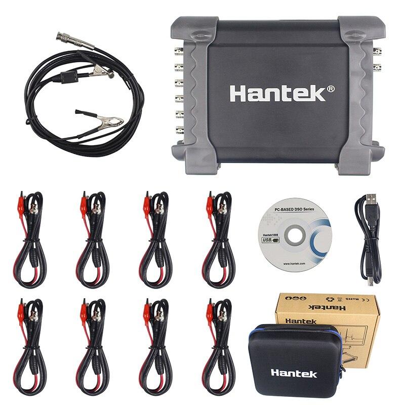 Hantek 1008C/1008A 8 Canaux Programmable Générateur 1008C Automobile Oscilloscope Numérique Multime PC Osciloscopio De Stockage USB