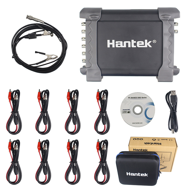 Hantek 1008C/1008A 8 Channels Programmable Generator 1008C Automotive Oscilloscope Digital Multime PC Storage Osciloscopio USB hantek 1008c 1008a 8 channels programmable generator 1008c automotive oscilloscope digital multime pc storage osciloscopio usb