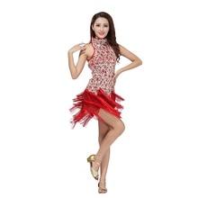 Sexy Dance Performance Dress Bling Latin Sequins Ballroom Salsa Samba Rumba Tango Dress