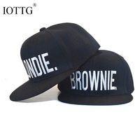 BLONDIE BROWNIE High Quality Embroidery Hot Sale Snapback Hats Cotton Women Gifts For Her Baseball Caps