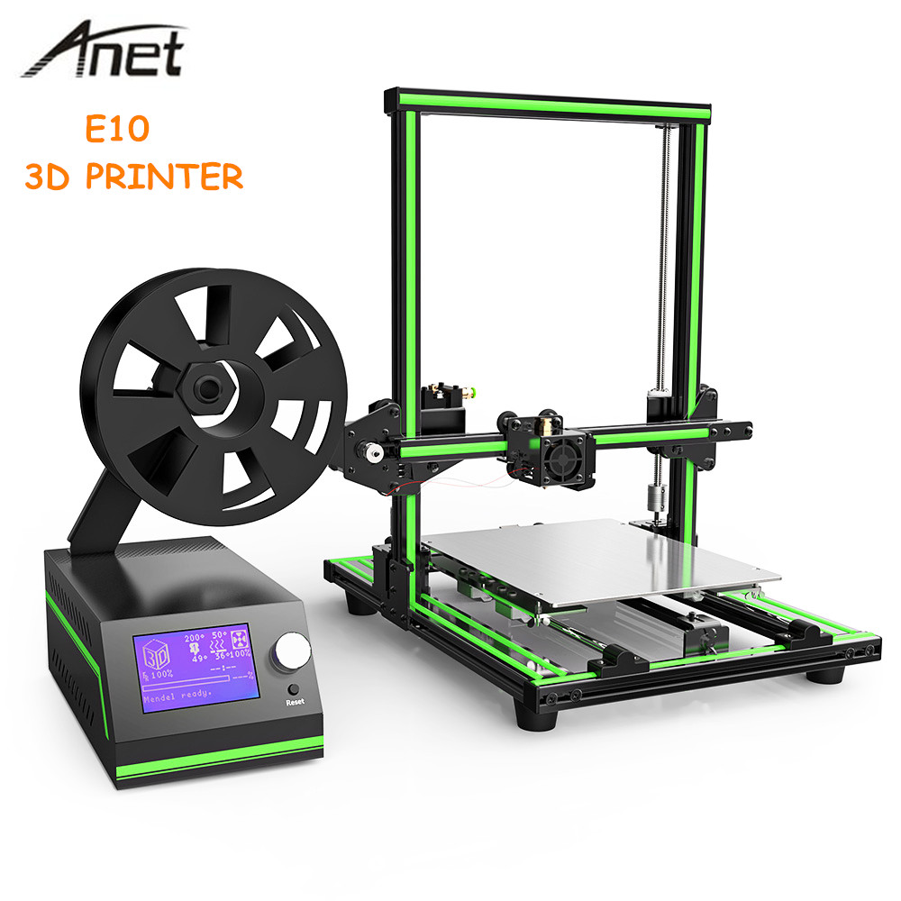 Anet E10 3D Printer Aluminum Frame Multi-language 3D Printer DIY Set LCD Screen 3D Desktop Printing Machine Support SD card skylarpu 3 inch lcd screen for garmin approach g5 handheld gps lcd display screen panel repair replacement without touch