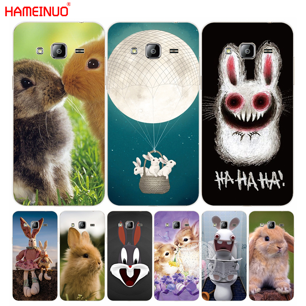 HAMEINUO Funny rabbit animal cute cover phone case for Samsung Galaxy J1 J2 J3 J5 J7 MINI ACE 2016 2015