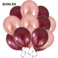 50 pçs/lote 12 polegada 2.8g látex balões redondos grossos pérola vinho vermelho rosa ouro balões festa de casamento aniversário do bebê