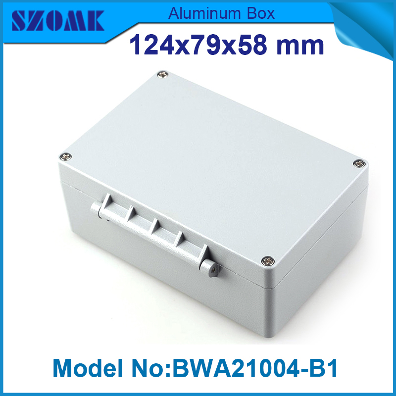 1 piece free shipping waterproof enclosure electronics box aluminium instrument enclosure 58(H)x79(W)x124(L)mm free shipping 1piece lot top quality 100% aluminium material waterproof ip67 standard aluminium electric box 188 120 78mm