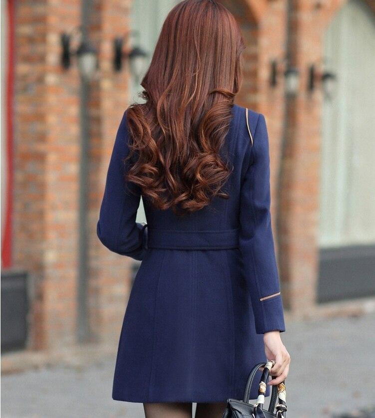 YAGENZ M-3XL Autumn Winter Wool Jacket Women Double Breasted Coats Elegant Overcoat Basic Coat Pockets Woolen Long Coat Top 200 4
