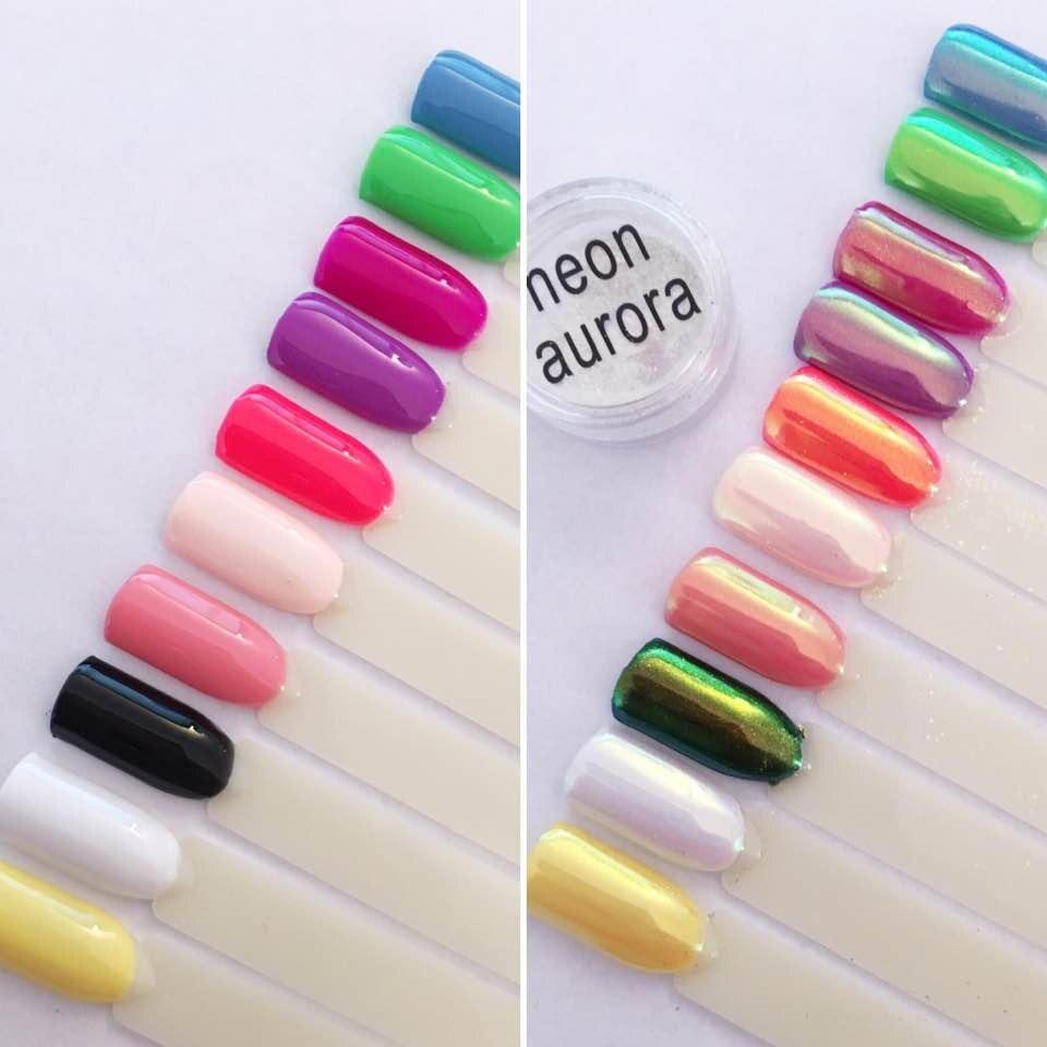Aurora Opal AB EINHORN CHROM Meerjungfrau Nail art Pulver Pigment ...