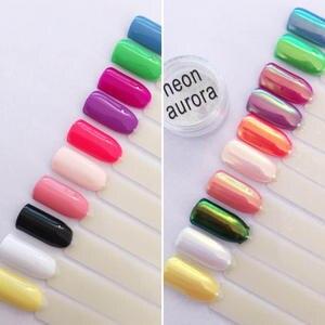 Image 2 - Aurora Opal AB UNICORN CHROME Mermaid Nail Art Powder Pigment   New Nail Trend 2017 Holo Mirror Powder Aurora Pigment