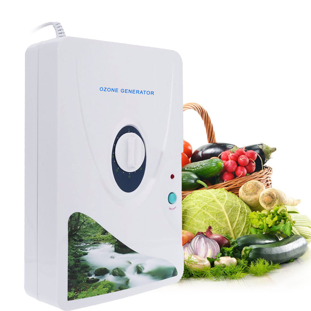 New 1Pcs 600mg/h Ozone Generator Ozonator Wheel Timer Air Purifiers Oil Vegetable Meat Fresh Purify Air Water ozone dropshipping ozone air purifiers and fruit vegetable disinfection machine deodorant fresh 600mg 8w ozone generator sterilizer