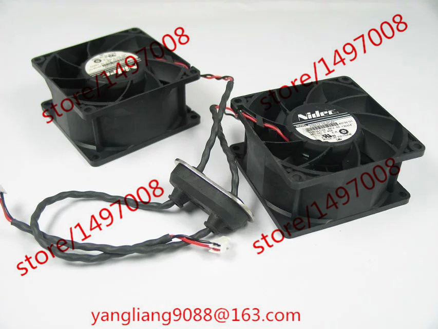 Nidec V35132-16LRCKF DC 24V 0.45A 4-Pin 80X80X38mm two fan Server Square Fan for avc dssc0715r2l p002 dc 12v 0 3a 4 wire 4 pin connector 100mm 70x70x15mm server square cooling fan