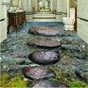 Custom Large Fresco Stone River Water Bath 3D Floor Thickening Environmental Waterproof Pvc Wear Film
