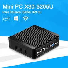 Mini Desktop Computer Barebone Business Mini PC With Celeron 3205U 3215U CPU HTPC HDMI VGA WIFI TV BOX Windows 7 8 10