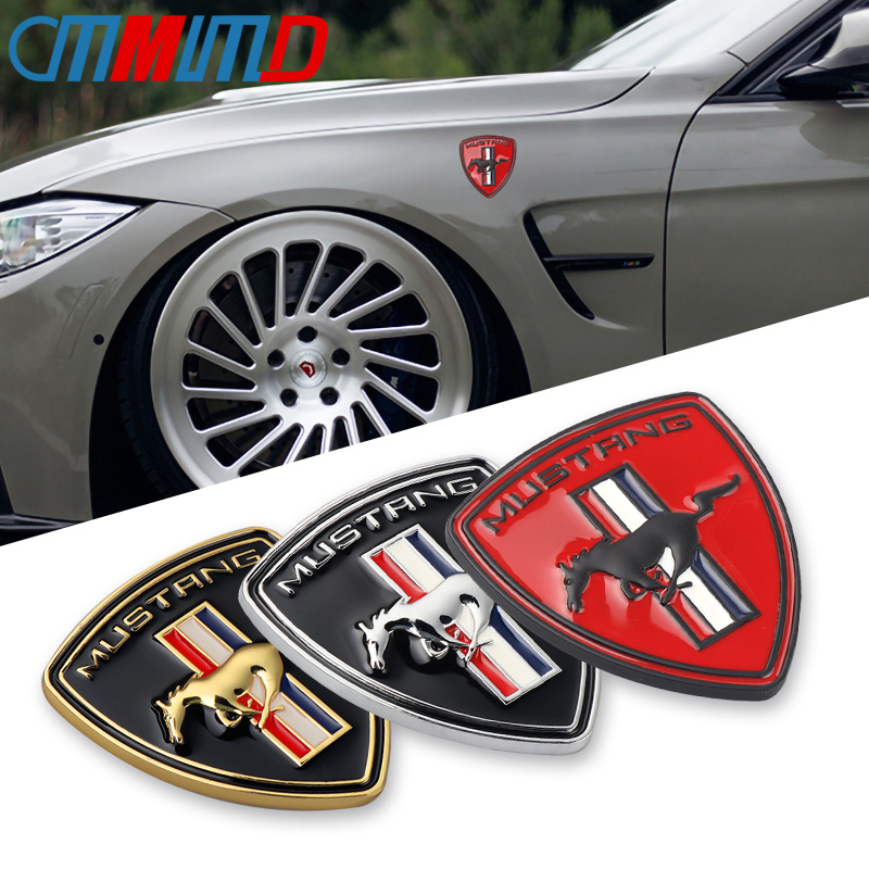 Car 3D Metal Chrome Running Horse Sticker for Ford Mustang Shelby GT Rear Trunk Decor Emblem Car Styling Accessories