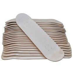 8 DIY en blanco Skateboard 10 piezas lote en blanco Sakteboard cubierta doble cóncavo patada cubierta 7ply arce canadiense 8 doble balancín X31