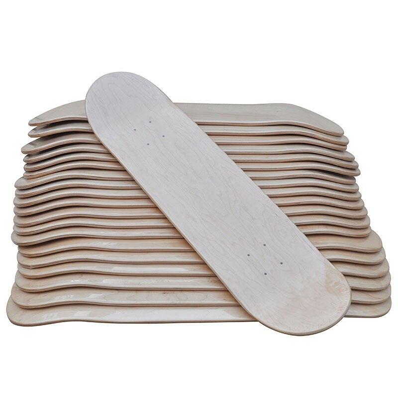 """8 """"bricolage blanc planche à roulettes 10 pièces Lot blanc Sakteboard Deck Double Concave coup de pied pont 7ply érable canadien 8"""" X31 """"Double Rocker"""