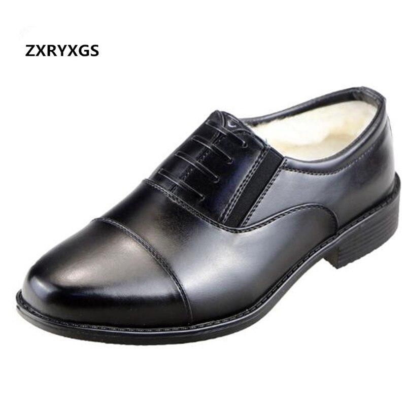 Lã Sapatos Black Quente Lace Inverno 2018 black Cabeça Zipper Homens Autênticos Genuíno Couro Size Quadrada Plus 37 46 Novos De Neve Botas Algodão Casuais nqwzwYR1S