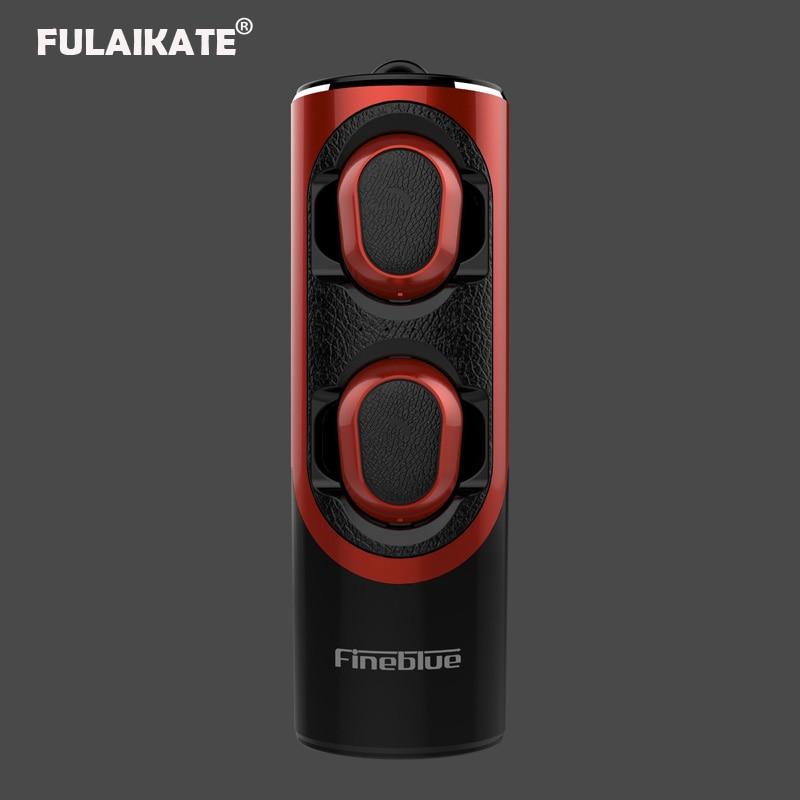 FLAIKATE écouteur sans fil pour iPhone téléphone intelligent tablette PC TWS Bluetooth V5.0 casque stéréo musique aimant mains libres écouteur - 2
