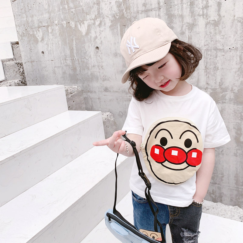 ANKRT 19 Summer New KidsBread Super Pocket T- shirt Childrens Cotton Short Sleeve Top.2T-6T