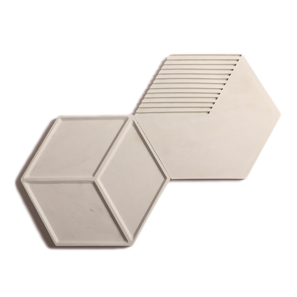 Hexagon concrete brick wall silicone molds silicone rubber molds forms 3D decorative background wall panels