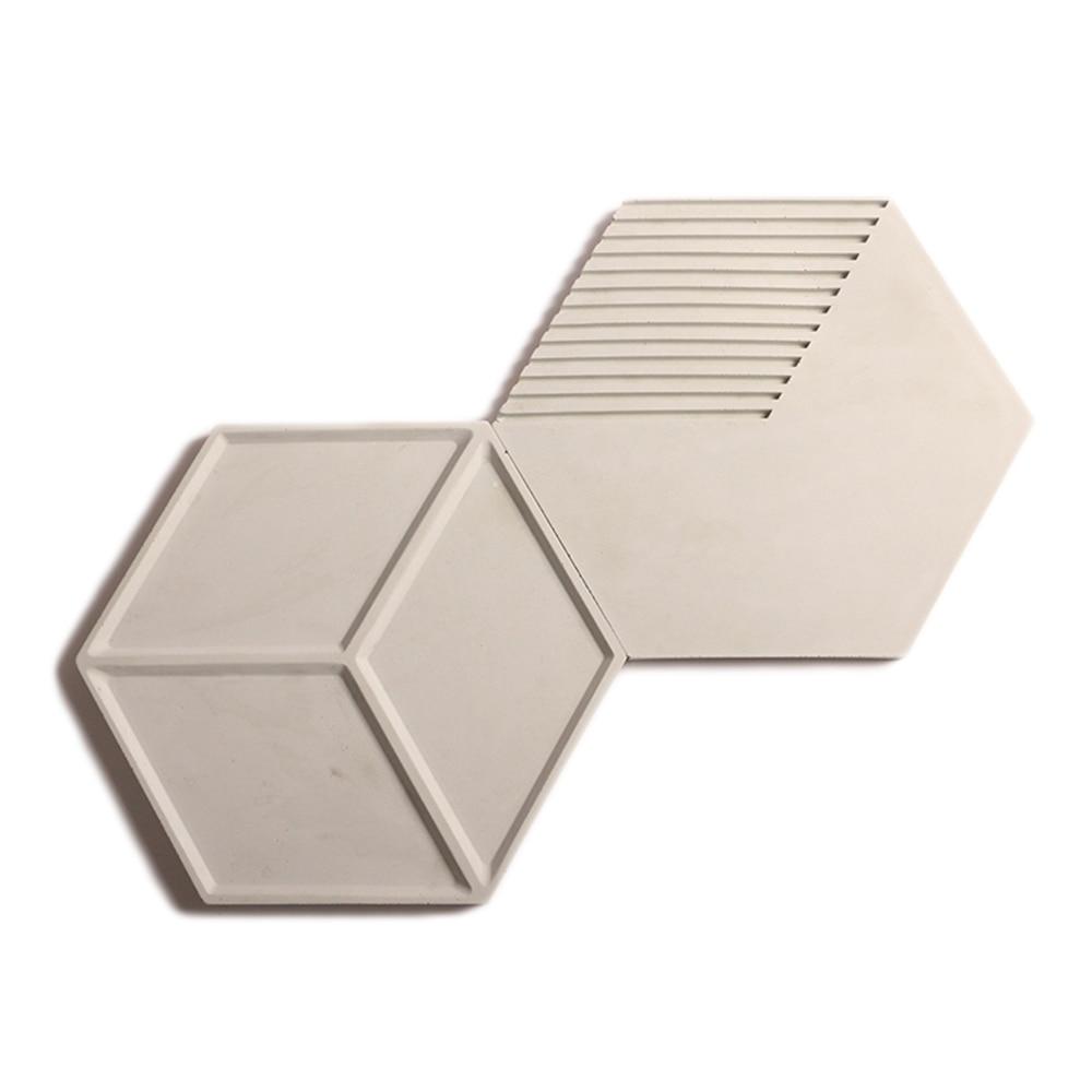 Hexagone béton brique mur silicone moules silicone caoutchouc moules formes 3D décoratif fond panneaux muraux