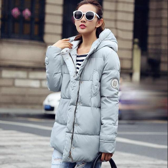 Материнство мода ватные куртки женские 2016 зимняя куртка женщин хлопка куртка тонкий парки дамы зимнее пальто плюс размер