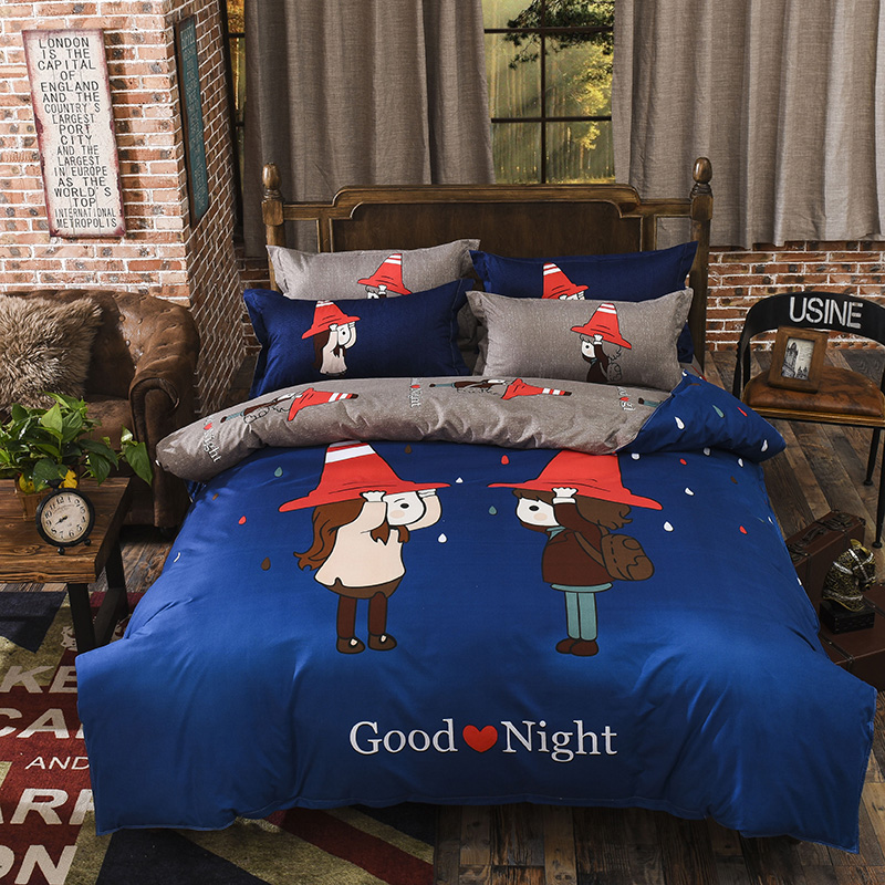 classic popeye cartoon bedding set duvet cover bed sheet pillow cases queen double full twin size bed linen set