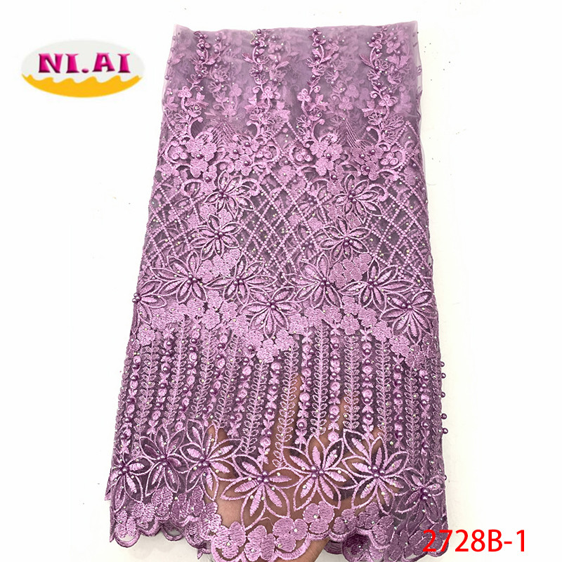 African Lace Fabric 2019 Embroidered Nigerian Lace Fabric Bridal High Quality French Tulle Lace Fabric For