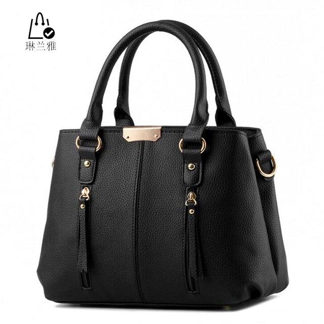 LINLANYA Female popular single shoulder bag exquisite workmanship quality handbag solid tassel illuminative messenger bag Z-09