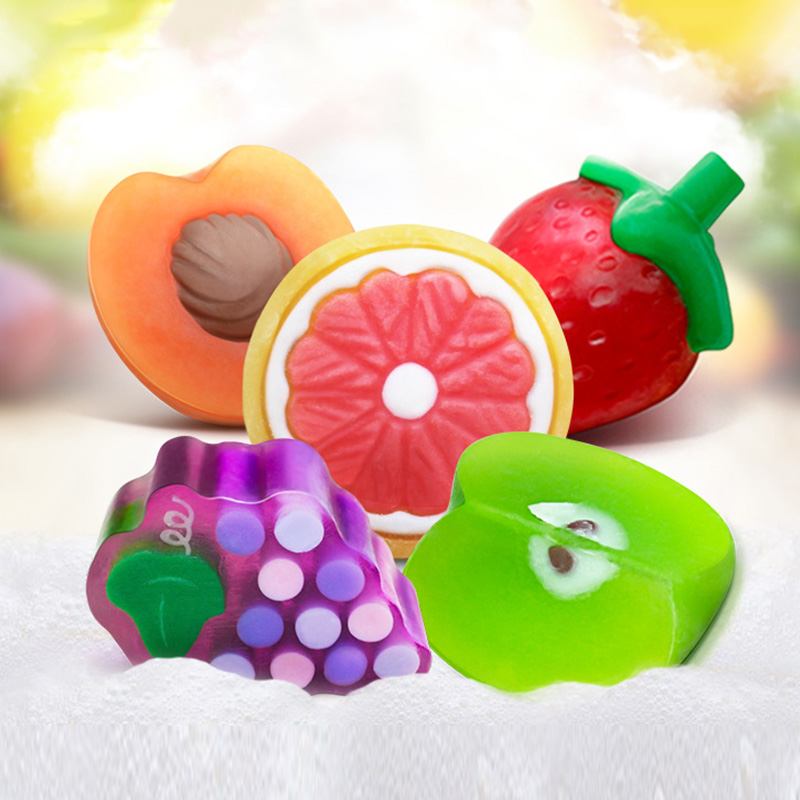 New Handmade Essential Oils Soap Child Gift Fruit Soap Bath Body Work Skin Bleach Soap HB88