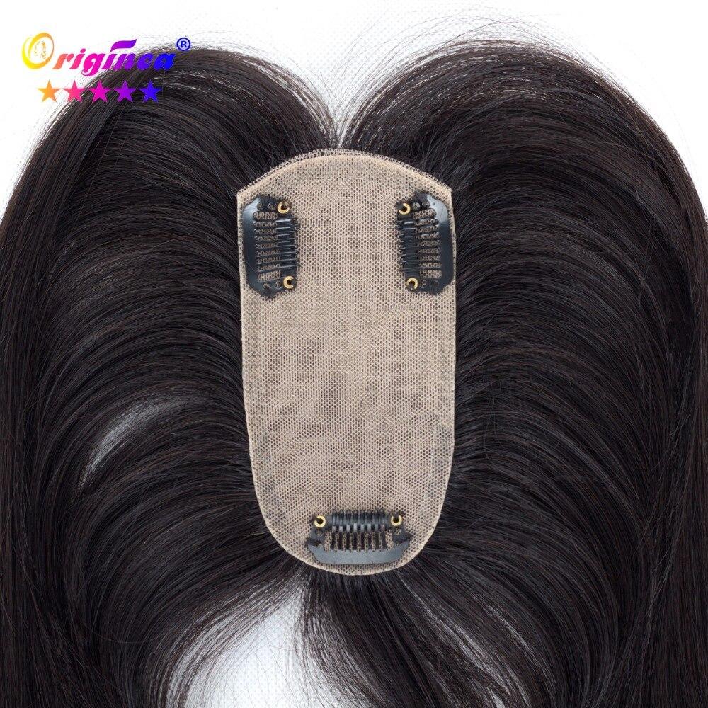 Originea Cheveux Humains pour les Femmes Net Taille De Base 12*6 cm Cheveux Longueur 12/16/20 pouce Système De Remplacement De Cheveux Humains Naturel Couleur