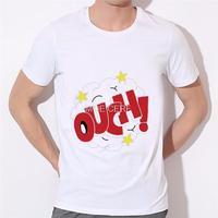 Ouch moda T-shirt dos homens de letras de design pequena maravilha jovem roupas da moda T-shirt T-shirt de impressão Modal 16-6 #