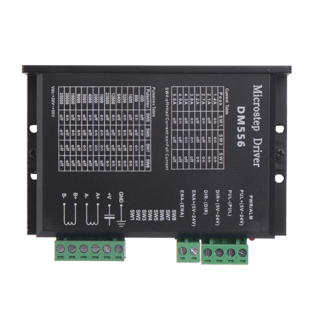 DM556 2-phase Digital Stepper Motor Driver 42/57/86 Stepper Motor Driver For CNC high quality high subdivision bipolar 2 phase stepper motor driver jk0220 for 28 35 42 stepper motor digital driver