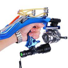 Professional Hunting Fishing Sling Bow Wrist Slingshot With Wheel Laser slingshot Night Catapult Tools