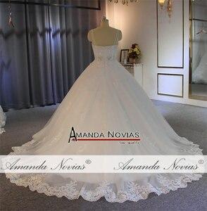 Image 4 - Vestido de noiva cinghie abito da sposa in pizzo con corpetto trasparente sexy del vestito da sposa