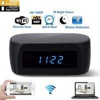 New WiFi Cam IP Mini Camera 1080P HD Camcorder Table Clock Alarm Setting Night Vision Motion Sensor DV DVR Camcorder