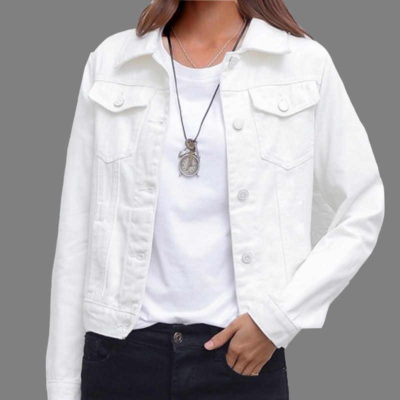 Jeans Jacke und Mäntel für Frauen 2019 Herbst Candy Farbe Beiläufige Kurze Denim Jacke Chaqueta Mujer Casaco Jaqueta Feminina