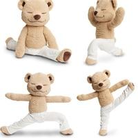Fancytrader Yoga Ayı Peluş Oyuncak Yaratıcı Sevimli Amerikan Meddy Teddy Dolması bebek Yumuşak Bebek Oyuncaklar Doğum Günü Hediye
