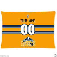NEW Custom Denver Nuggets BasketBall Pillow Case With Your Name And Numbers