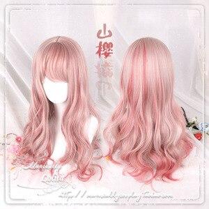 Большой Волнистый Синтетический волос в японском стиле, Лолита, Мори, для девочек, карнавальный костюм, парики для Хэллоуина, вечеринки, пар...