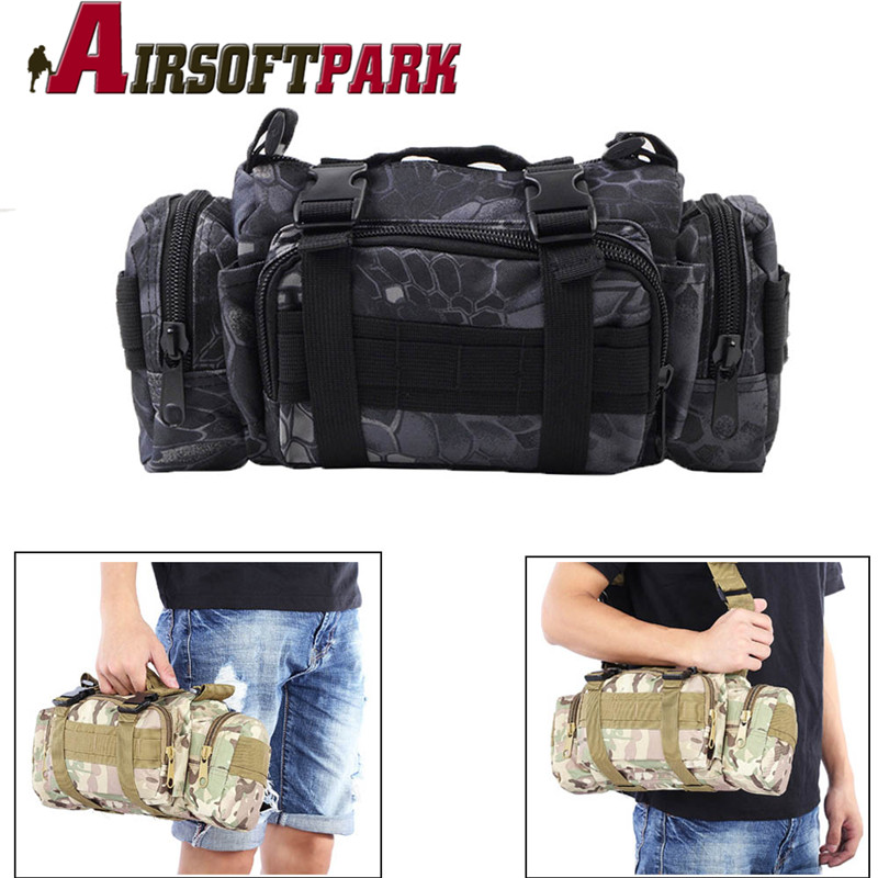 Outdoor Sports Shoulder Waist Pack Military Molle PouckTactical Deployment Bag Heavy Duty Hand Carry Bag Travel